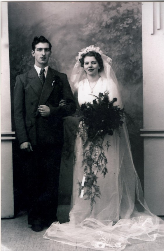 Wedding of Ronald Hall and Mavis