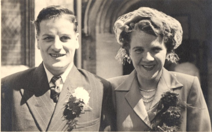 Wedding of Frederick and Thelma Beacock