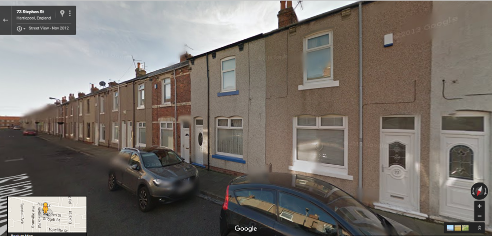 second view - 71 Stephen's Street, Hartlepool (Home of Frederick Walter and family in 1901)