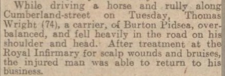Thomas Wright Hull Daily Mail 23 June 1926