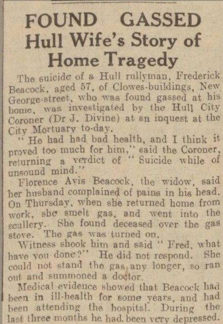 Frederick Beacock and Florence Avis Beacock Hull Daily Mail 26 November 1932.jpg
