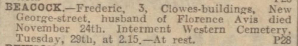 1Frederick Beacock Florence Avis Hull Daily Mail 28 November 1932.jpg