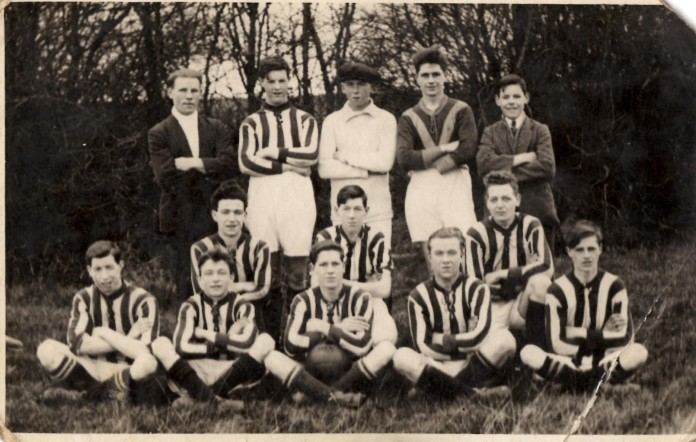 William Hunter and his football team