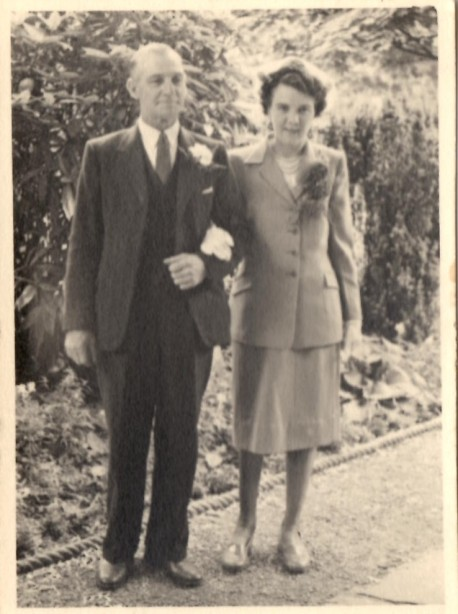 Thelma Beacock (nee Baxter) and her father Arthur Baxter