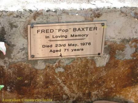 Gravestone of Frederick Baxter