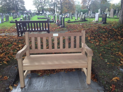 Memorial Bench for uncle Harold and auntie Betty